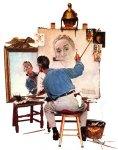 norman-rockwell-triple-self-portrait-posters