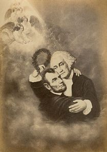 Apotheosis of Lincoln and Washington 1860s