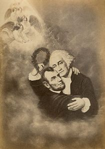 Apotheosis of Lincoln and Washington 1860s