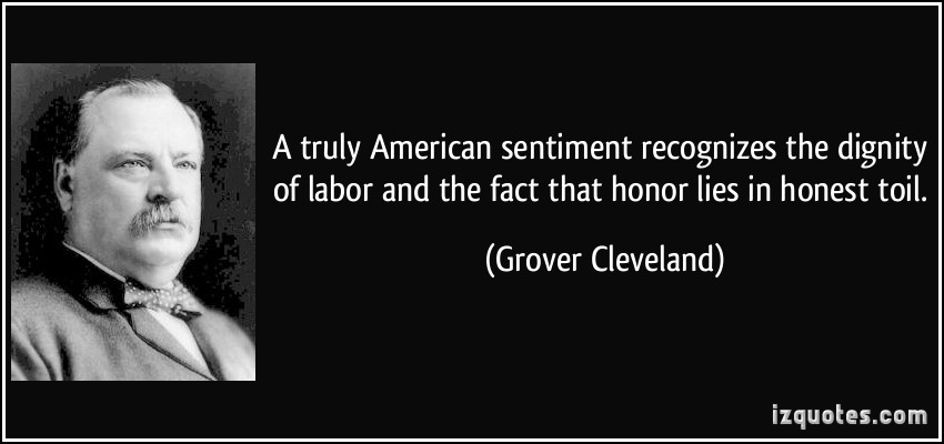 Does anyone know any interesting facts about president Grover Clevland?