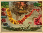 Everett Henry's Map of the Pequod's Voyage