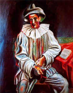 Picasso seated Pierrot, 1918
