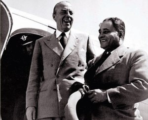 Bunche and Count Bernadotte, 1949