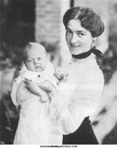 Eric Blair with Mother, 1903