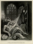 Frontispiece to 1831 edition of Frankenstein