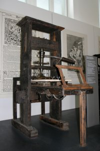 German printing press, 1811