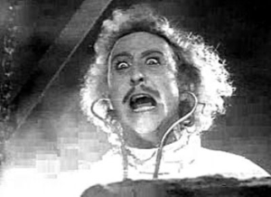 Gene  Wilder as young Frankenstein