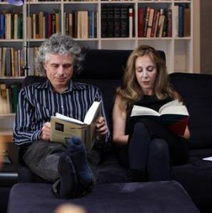 Pinker and Rebecca Goldstein  reading together