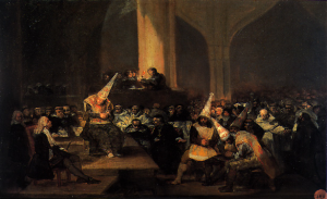 "Goya, ""Tribunal...."" 1812-1819"