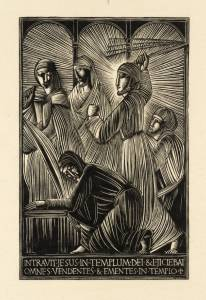 Christ and the Money-Changers 1919 Eric Gill 1882-1940 Tate Library