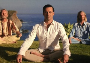 Don Draper meditating on California coast