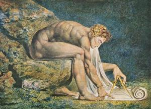 Newton imagined by William Blake