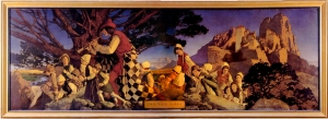 Maxfield Parrish painting