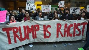 3-14-16, demo outside GOP headquarters. CBS News/AP